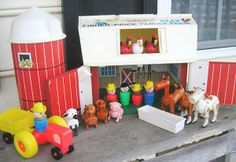 Fisher Price Barnyard - one of my childhood toys. The coolest feature - the barn moo-ed when you opened the door. High tech...