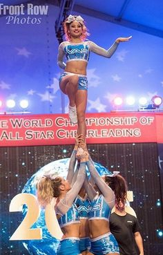 VAS Ice Queens Cheerleading Worlds 2015