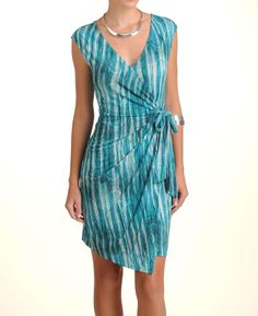 BCBG Cap Sleeve Wrap Dress