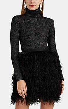 Metallic Rib-Knit Wool-Blend Turtleneck Sweater Miss Priss, Giorgio Armani Beauty, Sweater Design, Rag And Bone, Embroidered Lace, Barneys New York, Sweater Outfits, Designing Women, Rib Knit