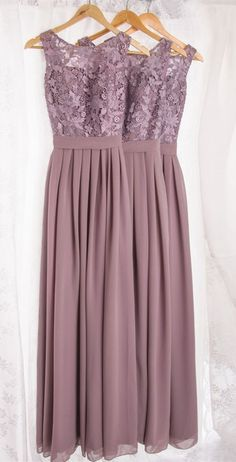 Dramatic Vintage Lace Bridesmaid Dresses with Flowing Chiffon Skirt,Vintage Lavender Lace and Chiffon Bridesmaid Dresses, Lavender prom dresses, Vintage wedding dress