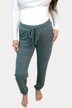 Sage Maternity Joggers- Sexy Mama Maternity Our sage maternity joggers are ideal for lounging around and for daily wear. Our stretch pants will make you never worry about your mama tummy. Ideal throughout pregnancy and for postpartum! Grab a pair of these comfy maternity joggers! Maternity Workout Clothes, Maternity Activewear, Pregnancy Workout, Joggers, Sweatpants, Stretch Pants, Daily Wear, Sage, Active Wear