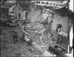 Photographs from the Vietnam War: Wreckage from a Viet Cong Bombing in Saigon, Vietnam (1964)