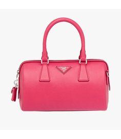 dd39e8d1161e Prada BL846Y Womens Saffiano Leather Top-handle Bag Rose Prada Handbags