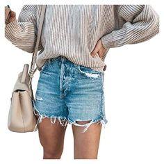 Spirio Men Summer Ripped Mid Waisted Casual Camo Print Denim Shorts Jeans