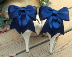 Many colors to choose from! Satin Bow Shoe Clips  set of 2   Bridal Shoe by ShoeClipsOnly, $26.00