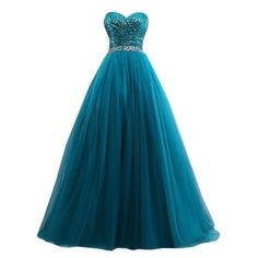 AngelDragon Elegant Strapless Long Tulle Sequins Evening Dress Ball... ❤ liked on Polyvore featuring dresses, gowns, gown, abiti, bridesmaid dress, evening dress, blue dress, sequin bridesmaid dresses, blue sequin gown and long evening dresses