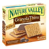 Nature Valley Dark Chocolate Granola Thins...yummy alternative to a candy bar!