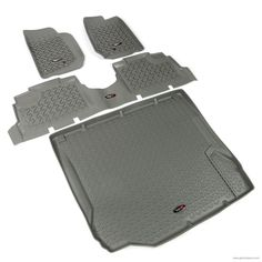 Floor Liners, Kit, Gray, 4-Door; 07-10 Jeep Wrangler JK