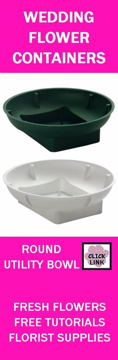 Floral Supply - Round Disposable Florist Foam Containers