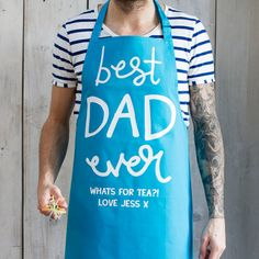 Custom Cooking Apron Gift for Dad First Fathers Day Gift