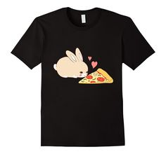 Amazon Cute Bunny Shirt Kawaii Rabbit Pizza Hearts T Clothing