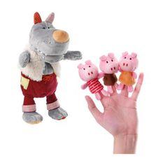 #wishlist #regalonavidad Marioneta 'El lobo y los tres cerditos' en www.mylittleplace.es