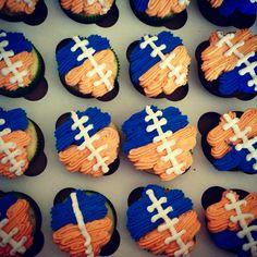 Broncos themed Happy Birthday Cupcakes