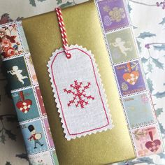 Christmas Snowflake Linen Gift Tag £2.95 | Sophie Made This