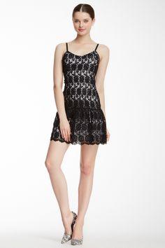 Tatyana Crochet Mini Tank Dress