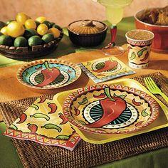 Fiesta Cinco de Mayo Chili Pepper Party Tableware.