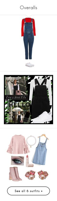 """Overalls"" by banana01 ❤ liked on Polyvore featuring River Island, Topshop, Converse, whatimwearing, polyvorefashion, BorÃ¥sTapeter, Wall Pops!, WearAll, NIKE and 3R Studios"