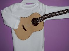 FOR HOLDEN! @Lori April Custom Infant Guitar Onesie by NellyBBabyBoutique on Etsy, $35.00