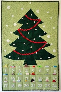 Christmas Tree Advent Calendar - free pattern