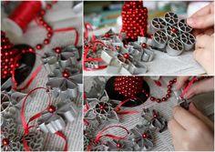 prata pulverizada ornamentos de massas e pérolas vermelhas