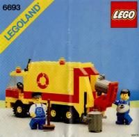 View LEGO instructions for Refuse Collection Truck set number 6693 to help you build these LEGO sets