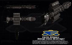 Omega class destroyer ortho by unusualsuspex on deviantART (Earth Alliance - Babylon 5)