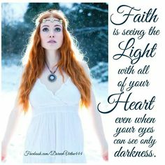 Keep Faith alive in your life.  Doreen Virtue.