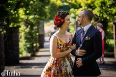 One of our bold new printed fabrics that look fantastic on this gorgeous d'Italia bride.  Happy couple!  www.ditalia.com.au  #ditalia #fashion #wedding #summer #style #dapper