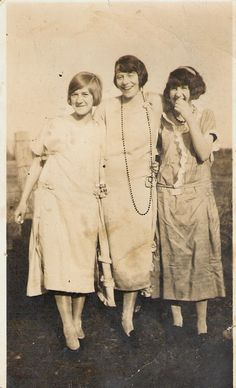 My grandmother (left) with her sister and her best friend. 1920s