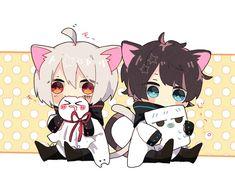 Loli Kawaii, Kawaii Chibi, Cute Chibi, Neko Boy, Chibi Boy, Chibi Anime, Manga Anime, Anime Art Girl, Anime Guys