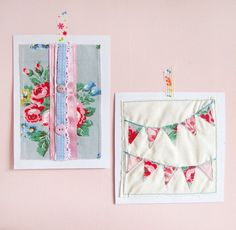 Nice way to save vintage fabric - frame it