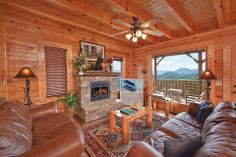 Heavenly Daze - This 3 bedroom cabin allows you to have access to all the luxurious resort amenities here on property. Make plans now to enjoy the action packed cities of Pigeon Forge and Gatlinburg! #smokymountains #cabin