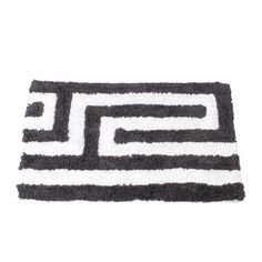 Meander Bath Mat Gray, $18, now featured on Fab.
