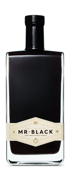 Mr Black Cold Press Coffee Liqueur - United Creative [ #black #coffee #liqueur #stylish #bottles ]
