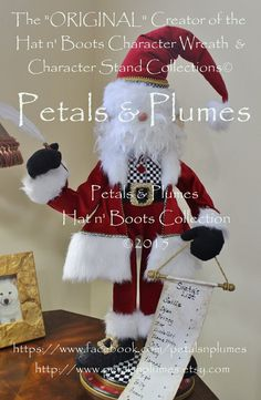 """PRE-ORDER for """"2017""""Delivery-Christmas Santa Claus Character Stand -Petals &…"""