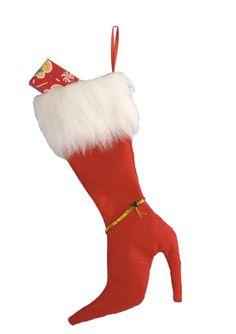 sexy christmas stocking | Red High Heel Stocking