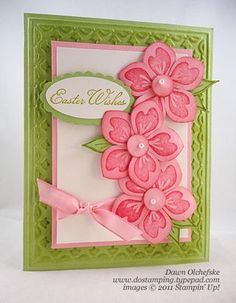 stampin up, dostamping, dawn olchefske, demonstrator, blossom builder punch, easter