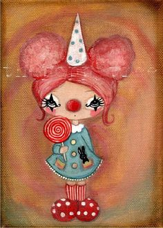 clown (the poppy tree) Tags: birthday carnival pink party black cute bunny art girl hat painting hair print eyes clown makeup diamond canvas cottoncandy lollipop thepoppytree Lollipop Birthday, Happy Birthday, Girl Birthday, Bunny Art, Cute Bunny, Painting For Kids, Art For Kids, Circus Theme Cakes, Unicornios Wallpaper