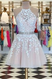 A-Linie Pink Applique Short Prom Kleid Heimkehr Kleid A-line Pink Applique Kurzes Abendkleid Homecoming Dress – selinadress Champagne Homecoming Dresses, Cute Prom Dresses, Event Dresses, Sexy Dresses, Summer Dresses, Wedding Dresses, Dress Prom, Short Pink Prom Dresses, Pretty Dresses For Teens