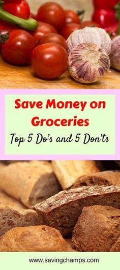 Top tips on how to save money on groceries. Ideas on saving money for foods and household items. Money saving tips, frugal living, healthy lifestyle.