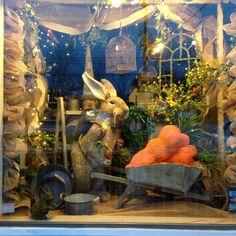 Spring window display, window display retail, retail windows, display w Spring Window Display, Window Display Retail, Display Windows, Store Front Windows, Retail Windows, Vitrine Design, Design Café, Store Design, Decoration Vitrine