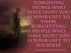 Forgive and forget!