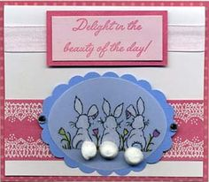 Delight Card & DIY Directions from GreatImpressionsStamps.com