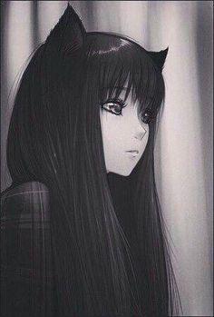 Anime, Mädchen und Kunstbild - Aly R - # animé # Mädchen . Anime Neko, Kawaii Anime Girl, Emo Anime Girl, Chica Anime Manga, Anime Wolf, Dark Anime Girl, Anime Girl Pink, Gothic Anime, Manga Girl