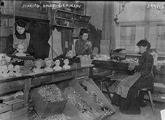 Making dolls, Germany c1915-1920.