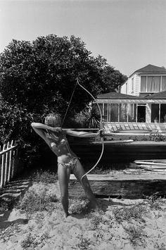 Dennis Hopper: Photographs 1961-1967 (Taschen). Jane Fonda (with bow and arrow), 1965.