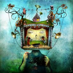 Mr. Puppethead, by Alexander Jansson.