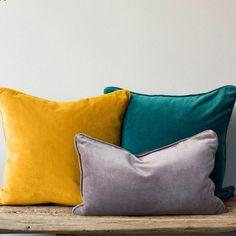 Velvet Cushion Covers - 30x50cm / Mustard yellow