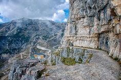 The Strada delle 52 Gallerie (Road of 52 tunnels) (or Strada della Prima Armata – Road of the First Army) is a military mule road built during World War I on the massif Pasubio in Veneto, Italy.